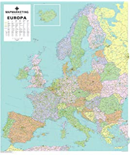 Europe Wall Map Global Mapping Continental Series Large Global