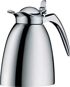 Alfi Hotel Vacuum Insulated Thermos Carafe for Hot and Cold Beverages.4 L, Stainless Steel
