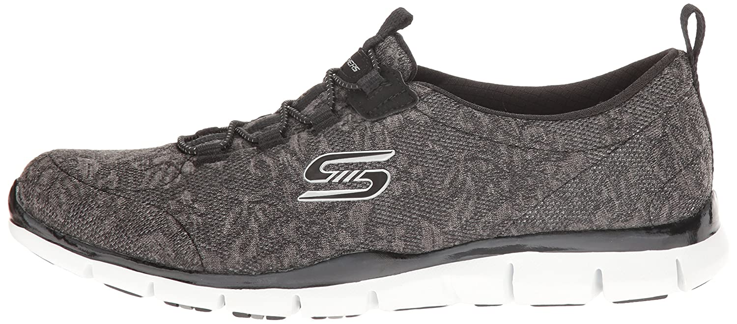 Skechers Sport Women's Gratis Lacey Fashion Sneaker B01J2S4V0A 10 B(M) US|Black/White