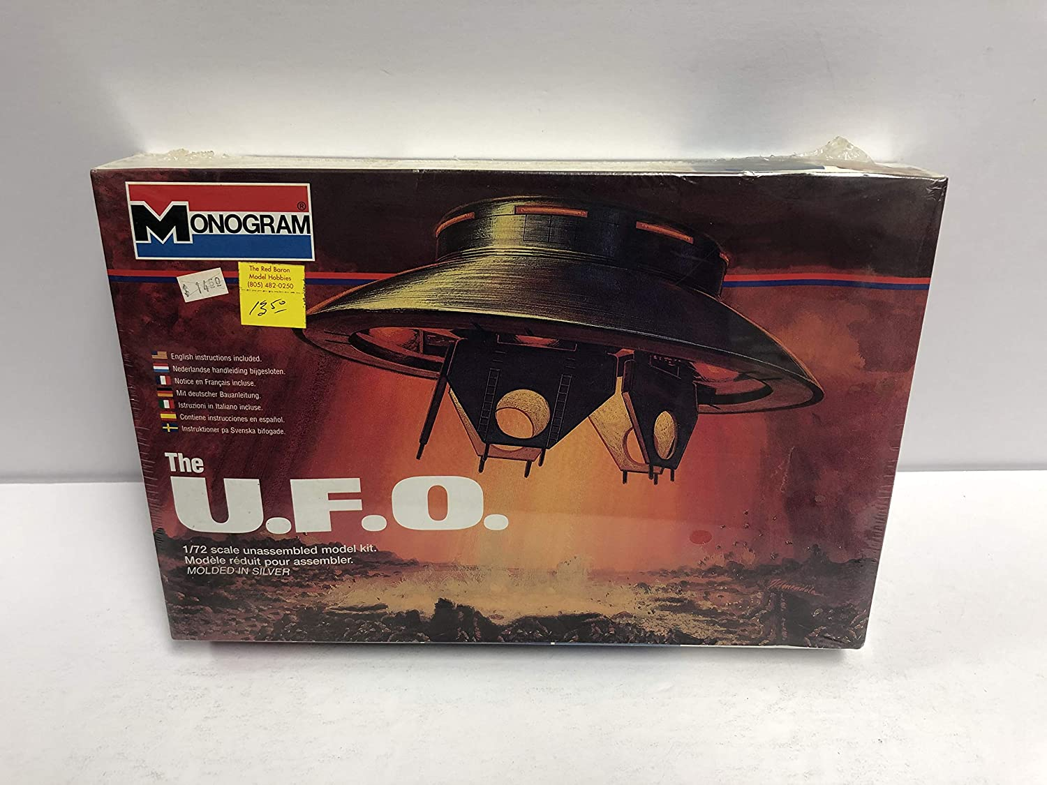 1996 Monogram 1/72 Scale U.F.O. Space Craft - Invaders TV ...