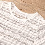 Bravetoshop Women Short Sleeve T Shirt Lace Tassels Blouse Tops Vest Outfit