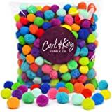 Carl & Kay [250 Pcs] 1 Inch Pom Poms in Bright & Bold Assorted Colors | Craft Pom Pom Balls | Pompoms for Crafts | Pom Pom for Crafts | Craft Pom Poms for Crafts