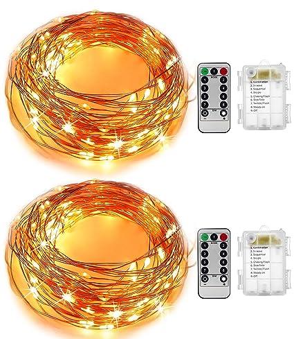 Amazon.com : Starry String Lights 2 Pack Kingtop 16.4Ft 50 LEDs ...