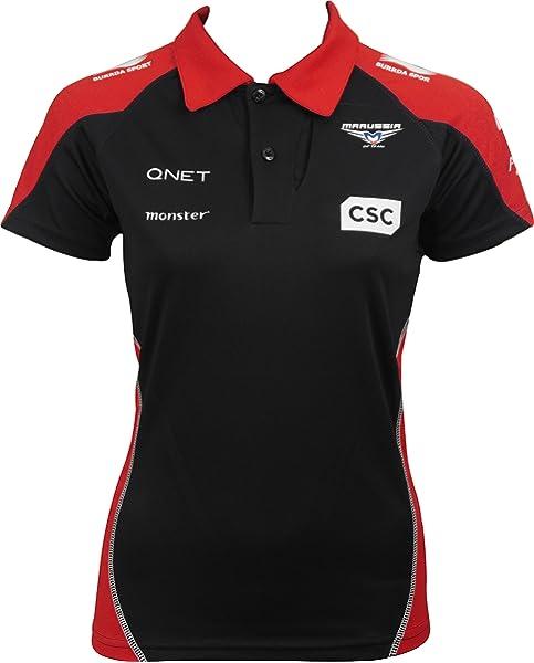 Marussia F1 Team Race Womens Short Sleeve Sponsor Polo Shirt ...