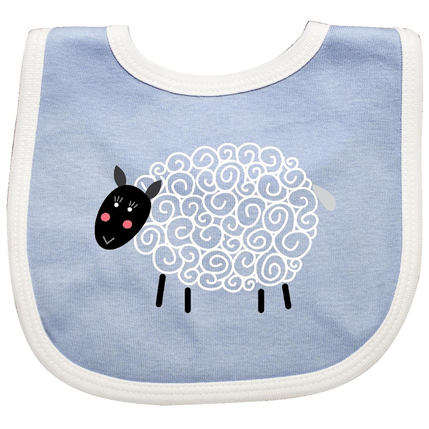 Sheep Curly Wool Lamb Cute Baby Bib Cecil Beard rizhaobaifakang