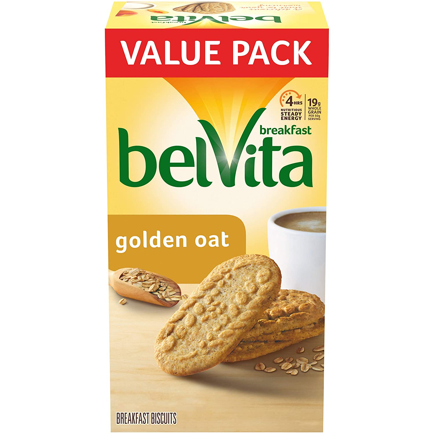 belVita Golden Oat Breakfast Biscuits, 12 Packs