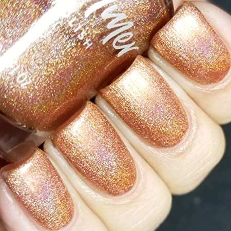 Run! It's The Coppers! Holographic Nail Polish  0.5 Oz Full Sized Bottle by Kb Shimmer