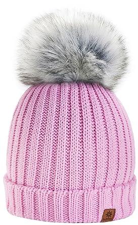 3c70980b177 4sold Funy Beanie Baby Kids Girls Boys Hat London Wool Knitted with Pom Pom  Winter Warm SKI Snowboard Hats  Amazon.co.uk  Clothing