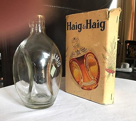HAIGI&: Botella de 3 lados con caja original, diseño vintage de whisky escocés: Amazon.es: Hogar