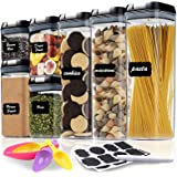7 Pieces Airtight Food Storage Container Set - Kitchen & Pantry Organization Containers Great for Flour, Cereal & Sugar - BPA