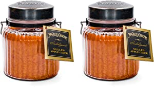 McCalls Candles Mulled Apple Cider Indulgence 2-Pack   18 oz. Glass Jar Scented Candles   Fall Scents Double-Wick Candles for The Home   Gift Set Made in USA