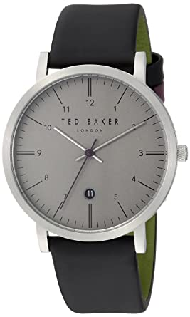 fcf6911297f9a Image Unavailable. Image not available for. Color  Ted Baker Men s Samuel Stainless  Steel Quartz Watch with Leather Strap ...