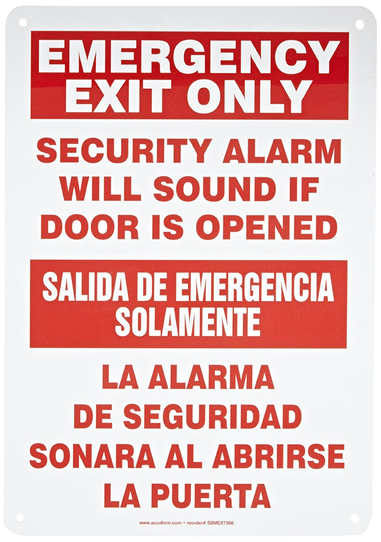 Accuform SBMEXT566VA Aluminum Spanish Bilingual Sign, Legend ...