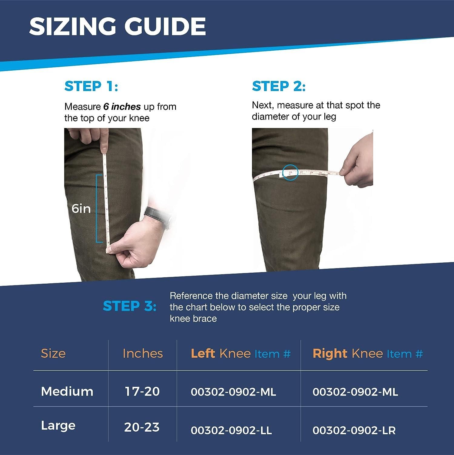 5b91fa1004 Amazon.com: VertaLoc® MAX OA Knee Brace, 4XL, 27