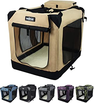 20 L x 14 W x 14 H, Blue Gray EliteField 3-Door Folding Soft Dog Crate Multiple Sizes and Colors Available Indoor /& Outdoor Pet Home