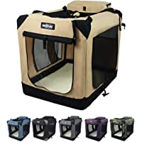 """EliteField 3-Door Folding Soft Dog Crate, Indoor & Outdoor Pet Home, Multiple Sizes and Colors Available (20"""" L x 14"""" W…"""