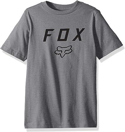 Fox Racing - Camiseta de Manga Corta - Camisa - para niño Gris Heather Graphite XL: Amazon.es: Ropa y accesorios