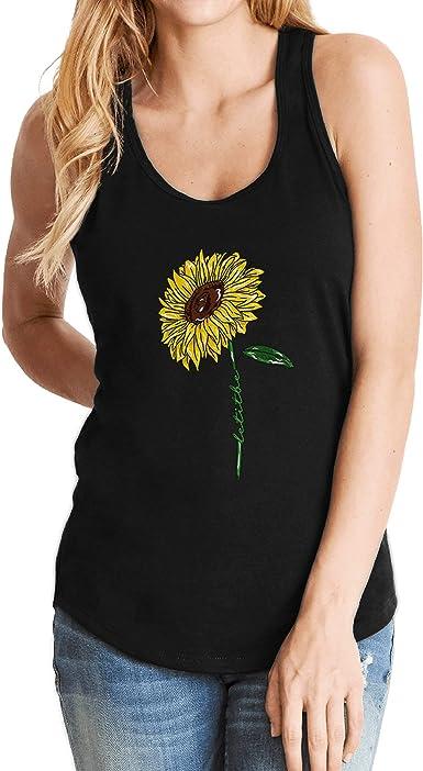 Daisy flower women/'s shirt Sunflower gift for her Let it be tshirt