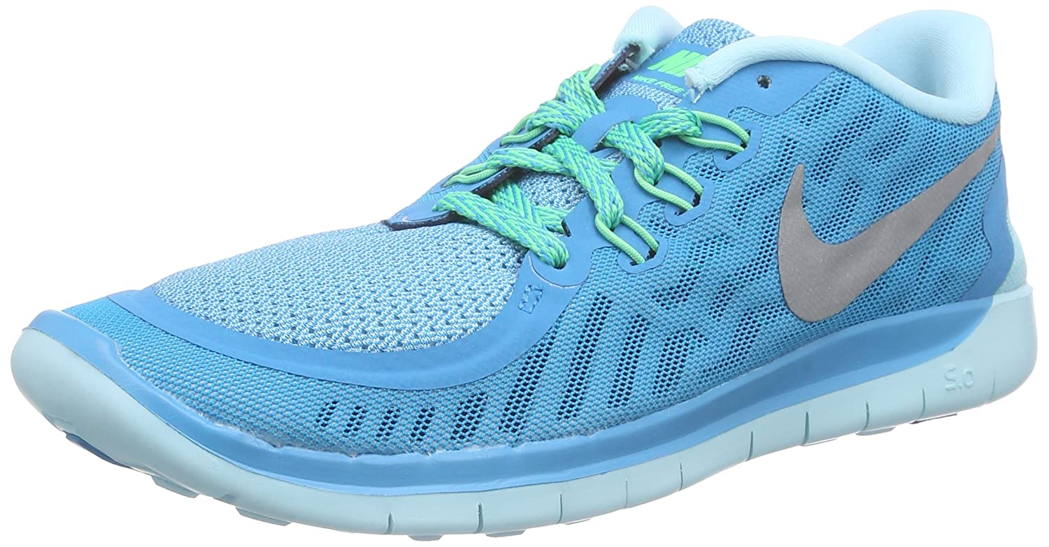 official photos cc8a2 4bdda Nike Free 5. 0 (GS) Blue Lagoon Metallic Silver 725114-404 (6 M US Big  Kids) Buy Online at Low Prices in India - Amazon.in