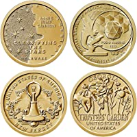 2019 P, D American Innovation 8 Coin Set 1 Dollar Coins Philadelphia and Denver Mint Uncirculated