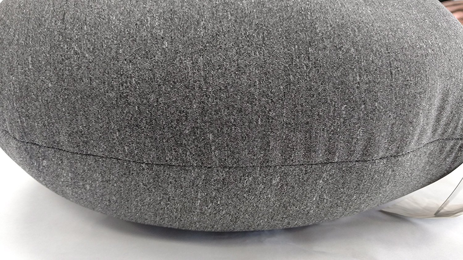 """Tache Micro Bead Solid Grey Realistic Stone Pillow - Squishy Realistic Novelty Pebble Rock Nature Décor - Round Cushion 12x16"""" - Nature-inspired Design: These stone pillows were designed to resemble pebble stones; featuring a realistic appearance with the softness and comfort of a pillow. Micro-bead filling: The micro beads are super comfortable and promote relaxation. They also help keep the pillow breathable and cool along with its spandex outer shell. The fabric is stretchy and micro beads are squishy making it easy for versatile use. Uses: These pillows can be used as floor pillows, chair cushions, throw pillows, also as props for a photo studio or play. These are made from a very versatile and contemporary design that can be used in almost any room and for any purpose. - living-room-soft-furnishings, living-room, decorative-pillows - 81PzFarWvHL -"""