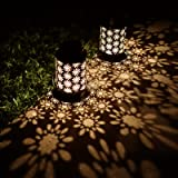 YINUO LIGHT Solar Lanterns Outdoor Hanging Retro Metal Waterproof for Patio Yard Pathway Decorative