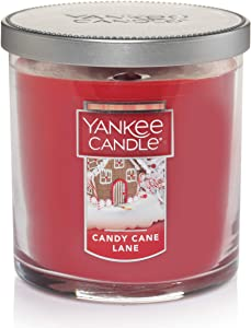 Yankee Candle Small Tumbler Jar Candy Cane Lane Scented Premium Paraffin Grade Candle Wax with up to 55 Hour Burn Time