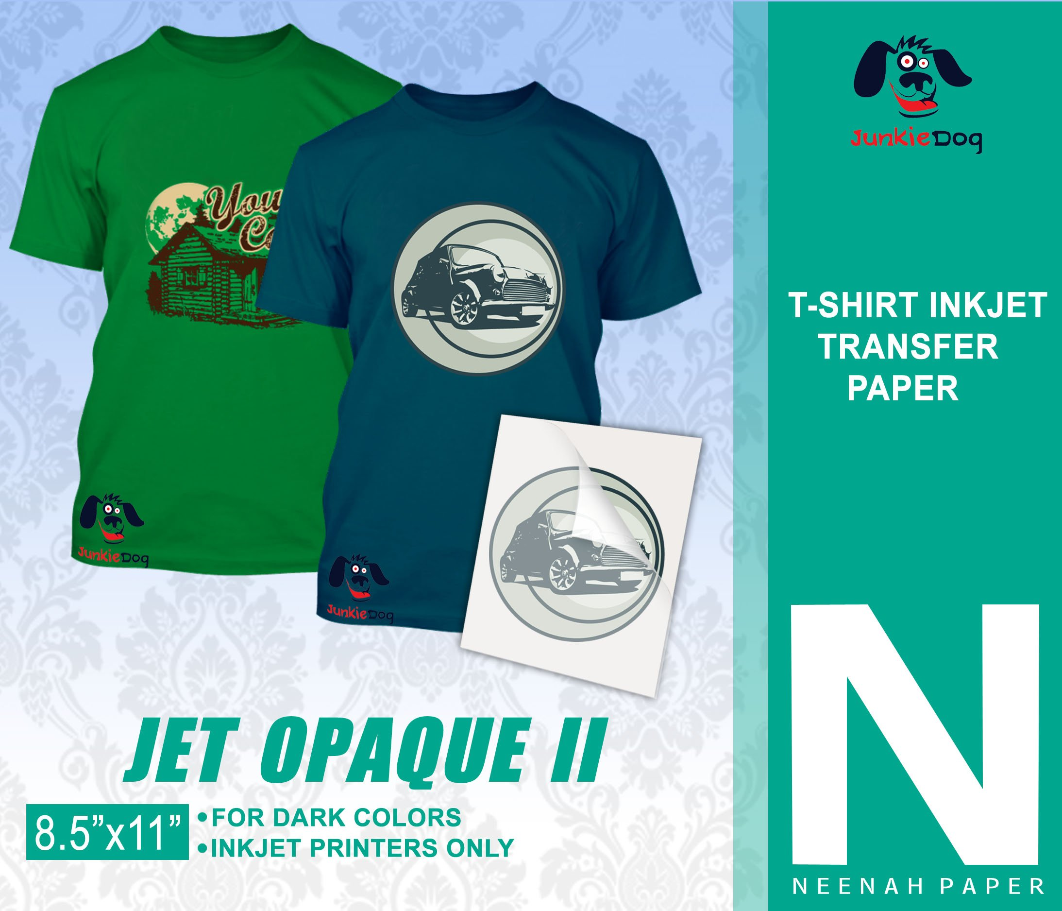 Amazon Jet Opaque Ii Heat Transfer Paper 85 X 11 Custom Pack