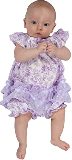 product image for Laura Dare Baby Girls Lovely Lavender Floral Frilly Romper