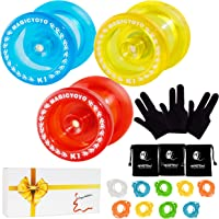 Pack of 3 MAGICYOYO Responsive YoYos K1-Plus Each with Yoyo Glove Yoyo Bag 3 Strings in A Gift Box