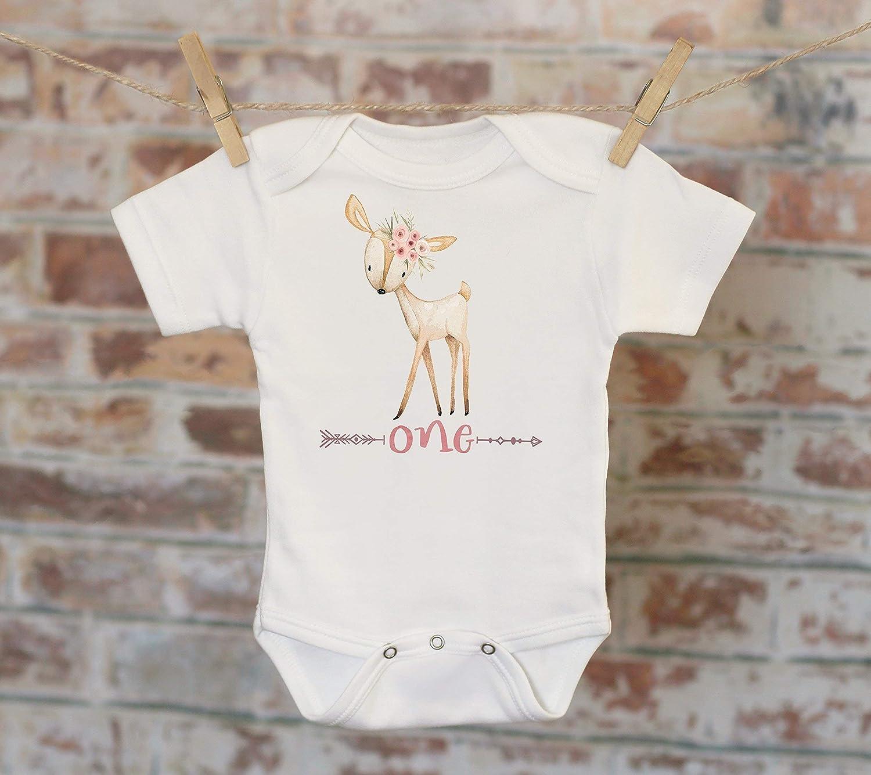 One Deer Onesie®/T-Shirt, Funny Onesie, Cute Onesie, Birthday Onesie, Deer Onesie, Tribal Style Onesie, Woodland Animals, Boho Baby One Deer Onesie®/T-Shirt