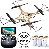 Force1 Drones with Camera for Adults and Kids - X5UW RC Quadcopter Drone with Camera Live Video, WiFi FPV 720p HD Camera Drone for Beginners with 3 Batteries