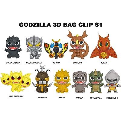 Godzilla Classic 3D Foam Bag Clip in a Blind Bag: Toys & Games