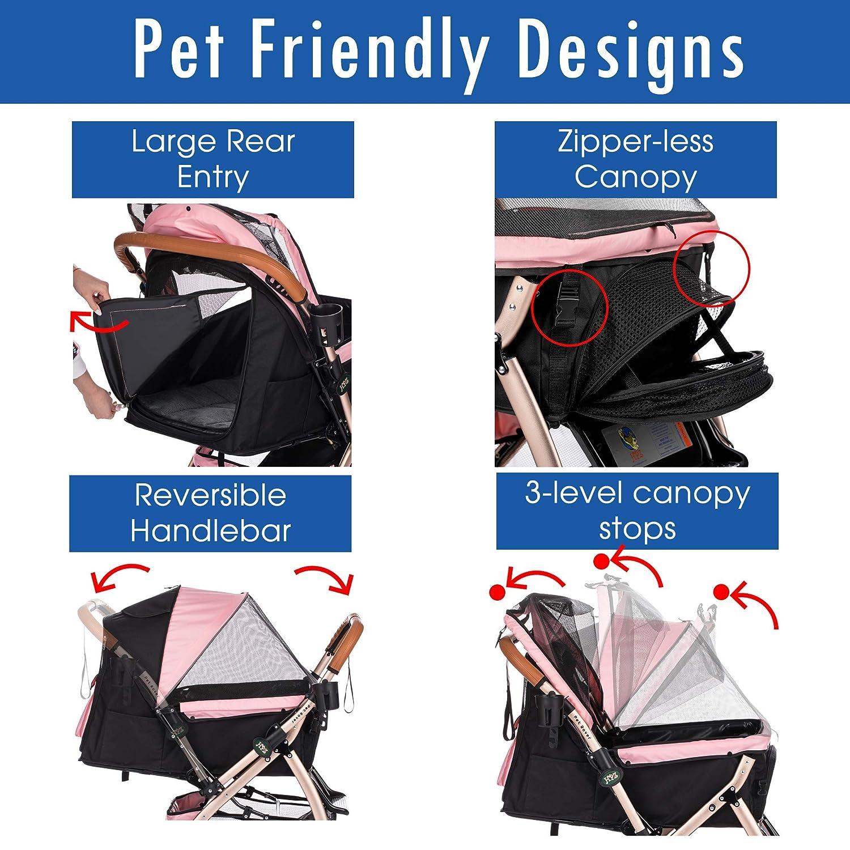 Amazon.com: HPZ Pet Rover XL - Cochecito de viaje para perro ...