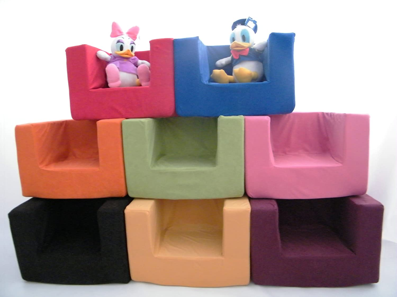 Matching Bedroom Sets Children's Single Foam Armchair Replacement Slip COVER ONLY in Black.