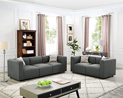 Amazon.com: Loveseat Sectional Sofas and 3 Seats Family ...