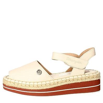 Wrangler WL161610 Sandale Femme Blanc Blanc - Chaussures Sandale Femme