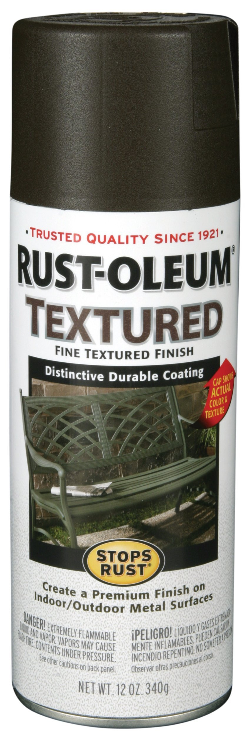 Rust-Oleum 7226830 Textured Spray Paint, 12 oz, Bronze by Rust-Oleum