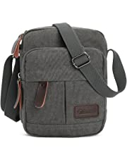Zicac Men's Retro Small Canvas Cross Body Messenger Bags Satchel Bag (Gray)