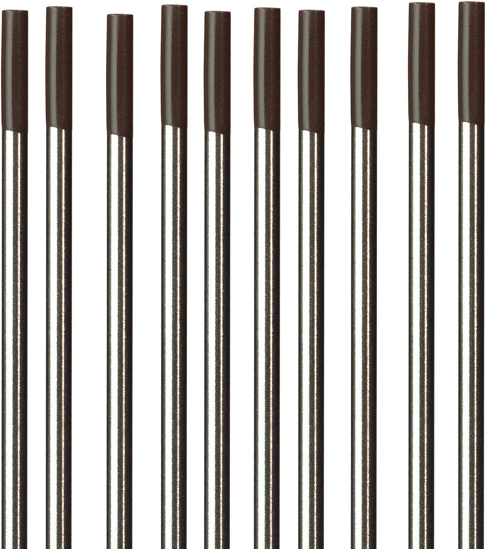 "Zirconiated TIG Welding Tungsten Electrodes .040/"" x 7/"" 10-Pack"