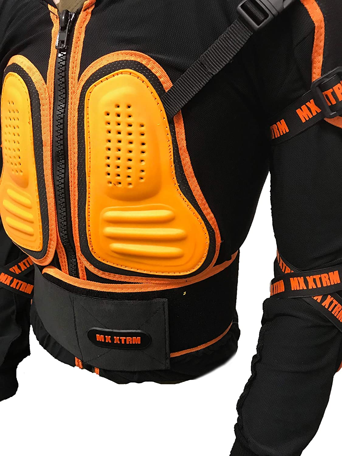 XTRM EDGE MX MOTORBIKE KIDS BODY ARMOUR Motorcycle Junior Child Off Road Quad ATV BMX Sports CE Approve Full Body Deflector ORANGE