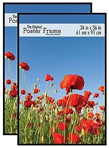 MCS 24x36 Inch Original Poster Frame 2-Pack, Black (65594)