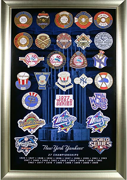 b19b68c016d New York Yankees 27 World Series Titles Patch Collage (20x32 212-068 ...