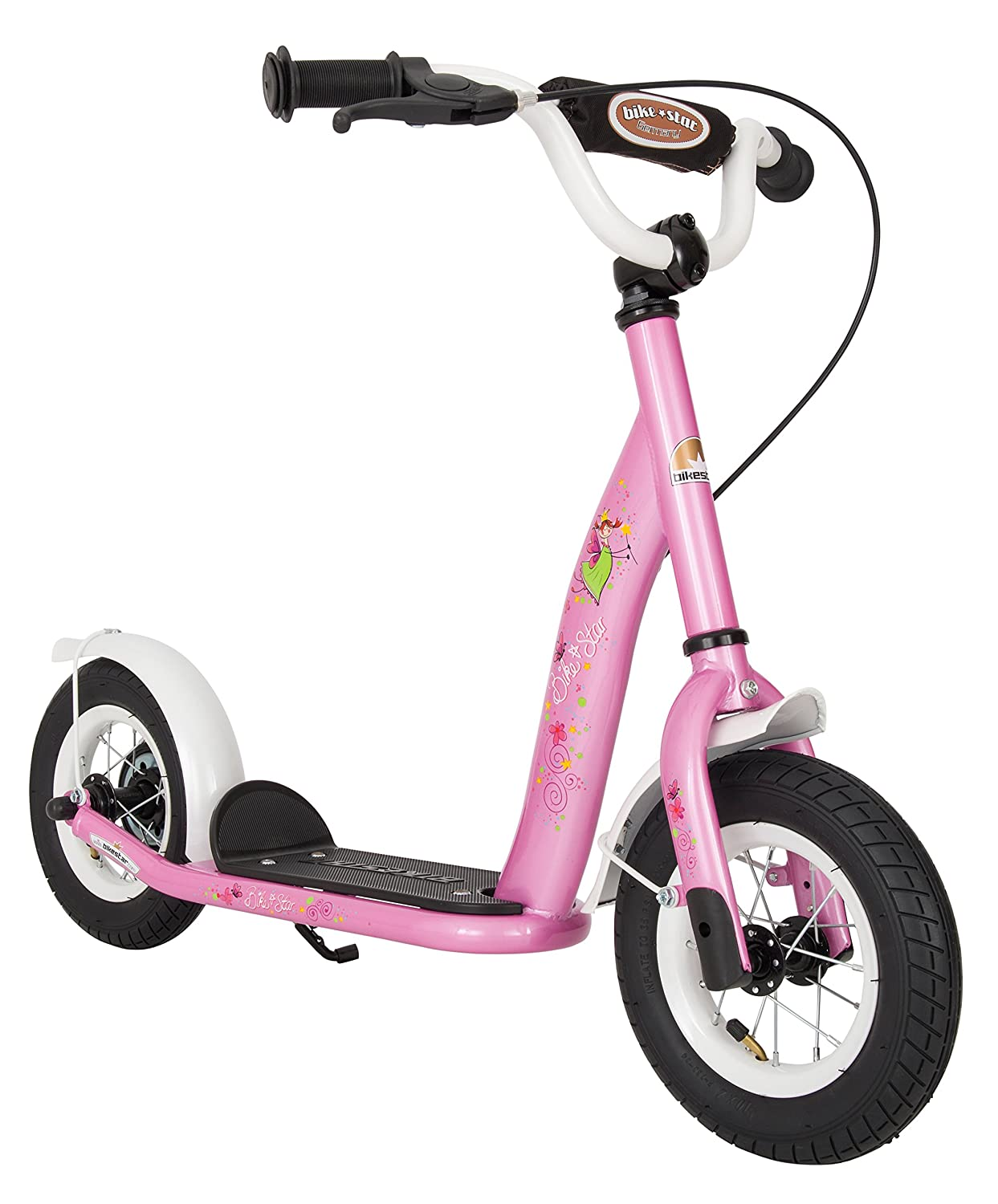 BIKESTAR� Original Safety Pro Sport Push Kick Scooter Kids with brakes, mudguard and air tires for age 5 year old children
