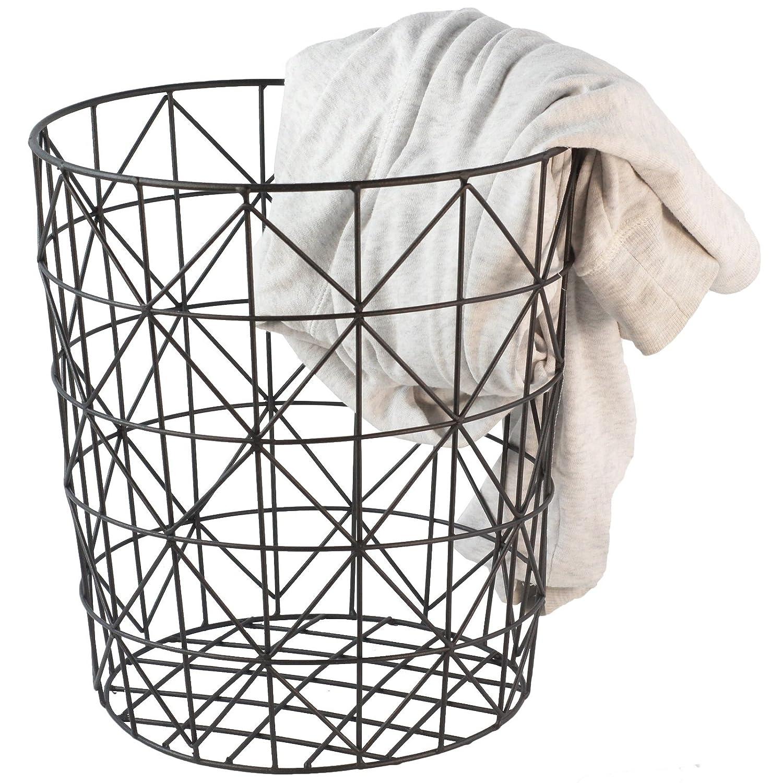 Wäschekorb schwarz Draht Mesh Geometrische Modern Stil,: Amazon.de ...