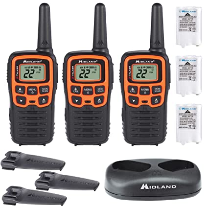 Midland Walkie Talkie >> Midland X Talker T51vp3 22 Channel Frs Walkie Talkie Up To 28 Mile Range Two Way Radio 38 Privacy Codes Noaa Weather Alert 3 Pack