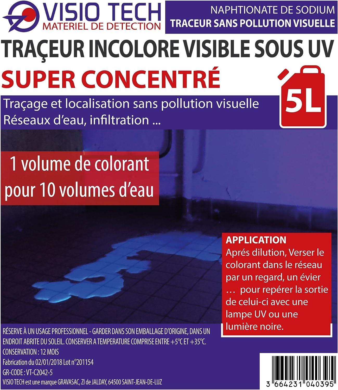 Visio Tech – Localizador incoloro Super concentrado visible bajo UV – 5L: Amazon.es: Bricolaje y herramientas