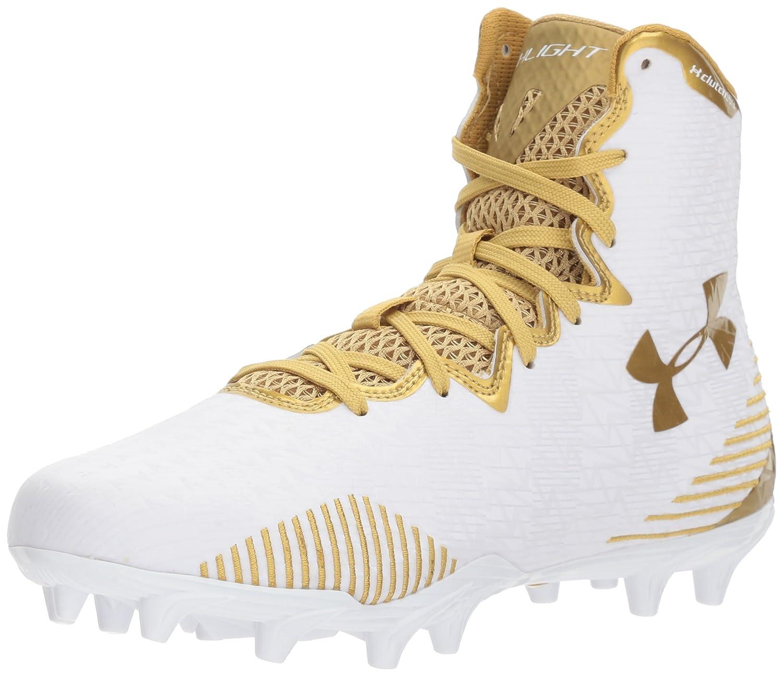 Under Armour Women's Lax Highlight MC Lacrosse Shoe B06XNK1WPJ 8.5 M US|White (100)/Metallic Gold