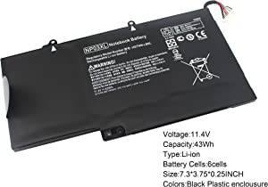 Gomarty 11.4V 43WH NP03XL Notebook Battery for HP Pavilion X360 13-A010DX 13-A110DX 13-A012DX Envy 15-U010DX 15-U337CL HSTNN-LB6L TPN-Q146 TPN-Q147 TPN-Q148 TPN-Q149 760944-421