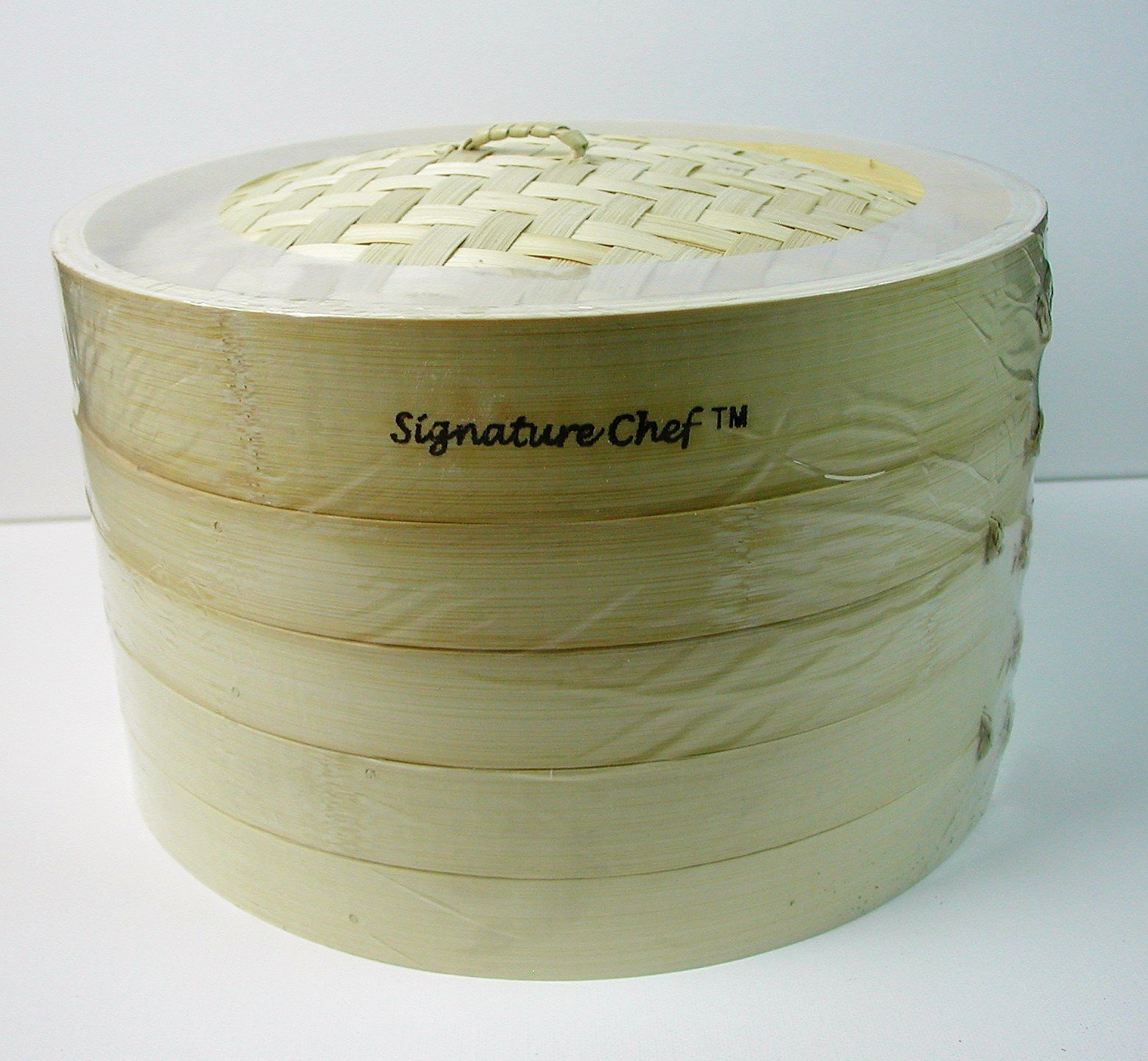Signature Chef Bamboo Steamer, 10 inch, 2 Tier with Lid by Signature Chef (Image #3)